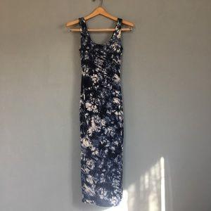 Black Bead, tie-dye blue and white body dress